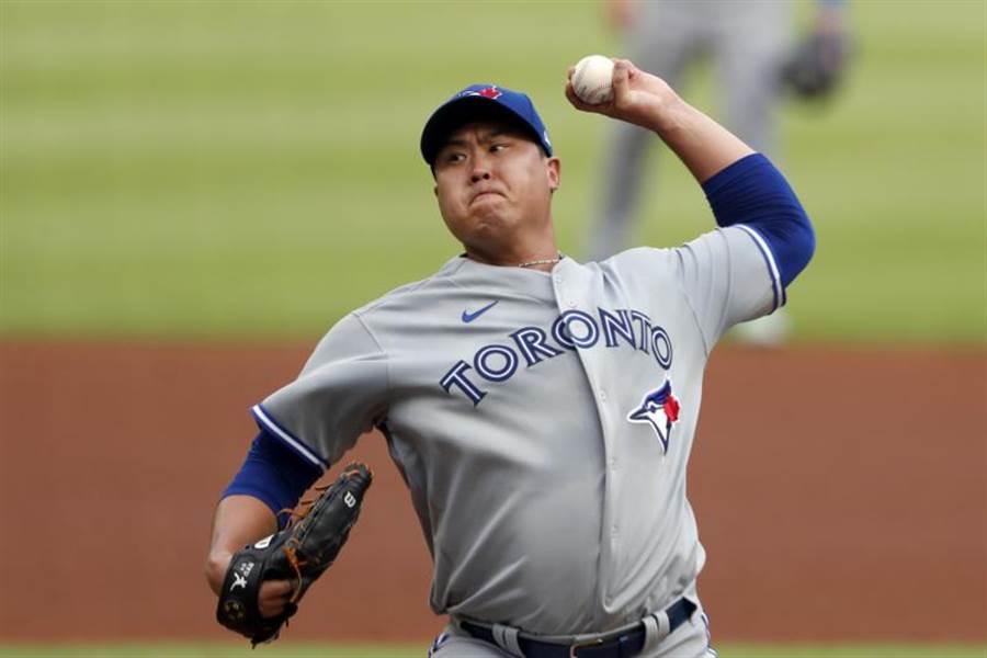 藍鳥隊韓籍投手柳賢振今天的表現才像個王牌投手。(美聯社)