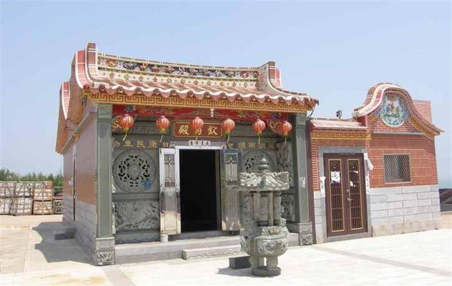 始建於清嘉慶年間的欽月殿,是復國墩的地方信仰中心。(金湖鎮公所提供)