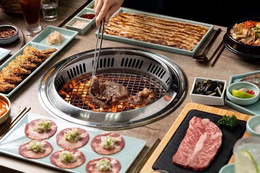 「姜滿堂」正宗韓國直火燒肉。(豆府餐飲集團提供)