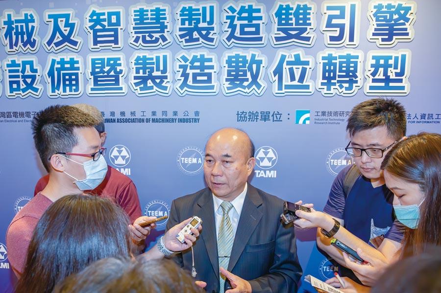 臺湾机械公会理事长柯拔希。图/机械公会提供