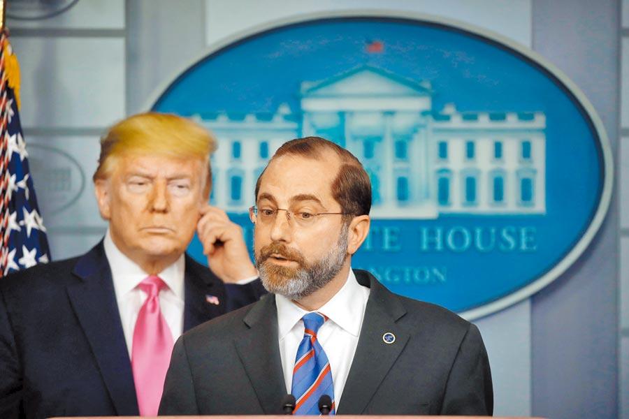 美國總統川普決定派遣衛生部長阿札爾訪台。阿札爾是1979年以來訪台層級最高的美國內閣官員。(路透)