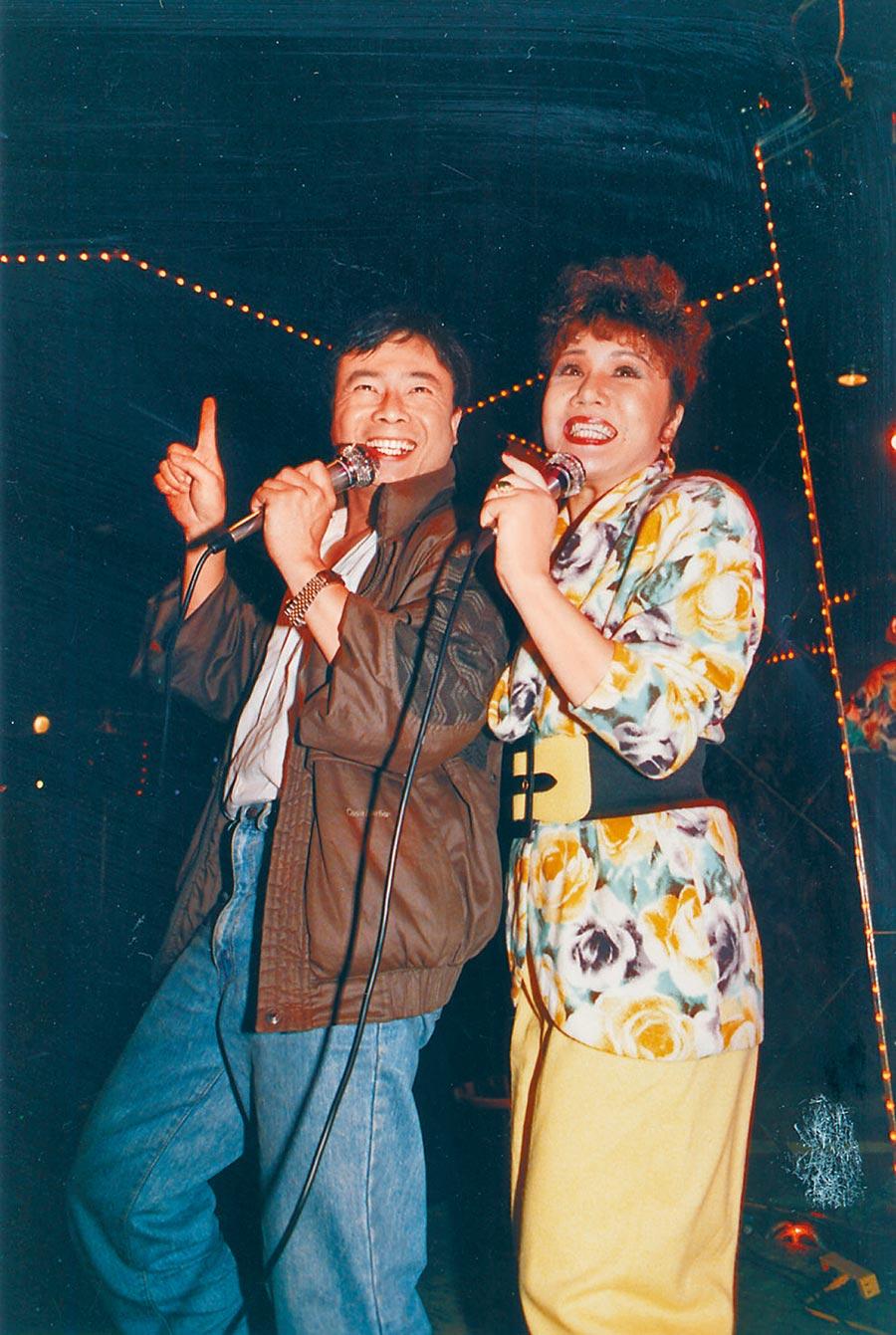 廖峻(左)、澎澎當年在秀場時期是超級紅星。(資料照片)