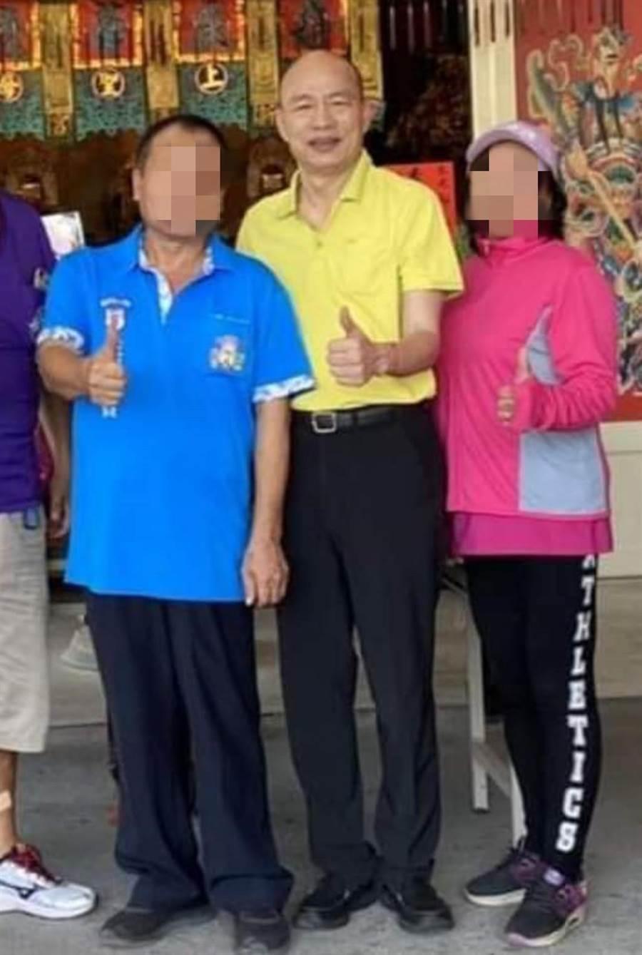 網友貼出韓國瑜野生照。(翻攝臉書社團「韓國瑜快樂向前行」)