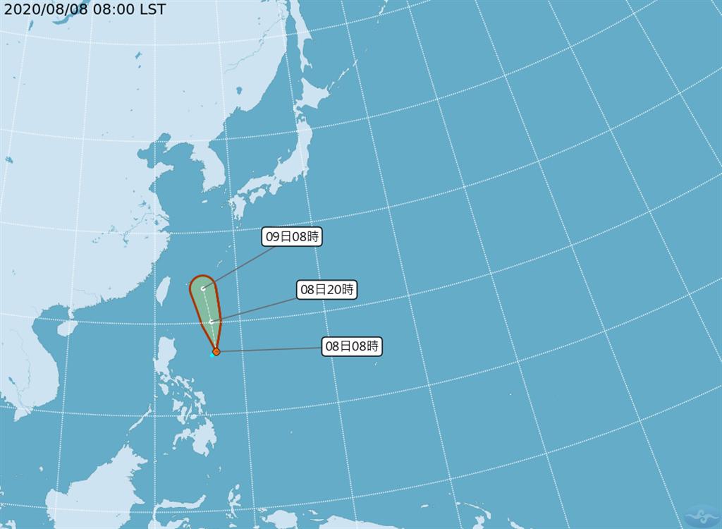 氣象專家吳德榮今天在「三立準氣象· 老大洩天機」專欄表示,最新中央氣象局「路徑潛勢預測圖」、最新歐洲中期預報中心及美國模式模擬顯示,今天「熱帶低壓」在菲律賓東方發展,將沿菲律賓東方海面北上。(翻攝自中央氣象局/林良齊台北傳真)