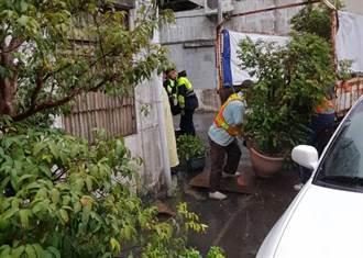 三峽分局清道專案排除路障 還給住戶停車空間