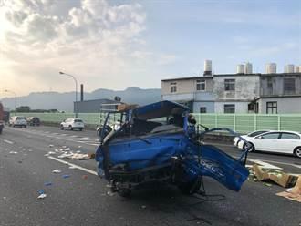 國道3三鶯路段3車連環車禍 4人輕重傷