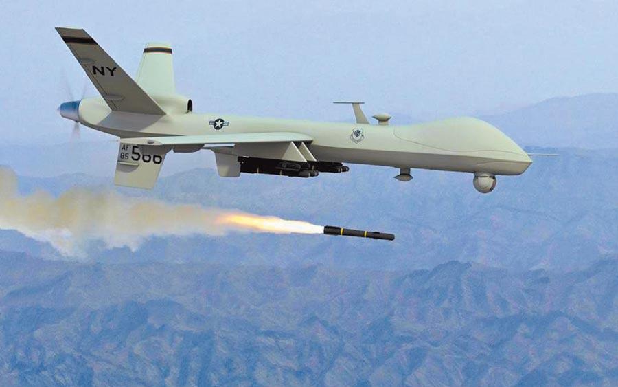 美國傳擬軍售台灣至少4架先進的無人偵察機,圖為美國海上衛士無人機「掠奪者B」。(摘自網路)