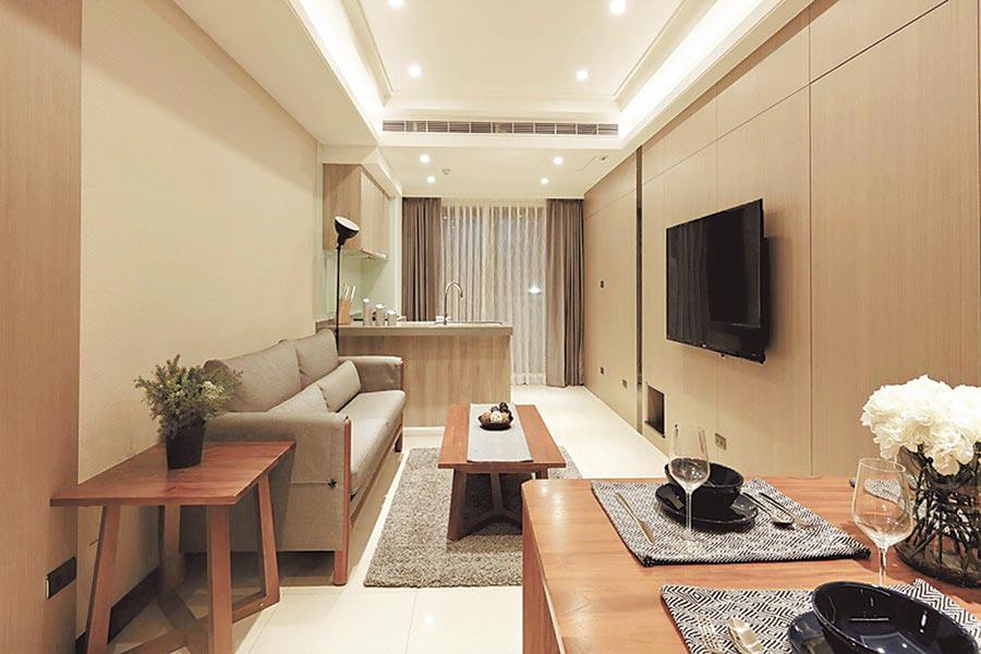 文湖寶翠全案僅提供16席次,戶戶至少雙面採光、邊間無暗房。(博泓建設提供)