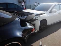 3車等紅燈追撞 保時捷駕駛做完警詢竟離奇自撞 送醫不治