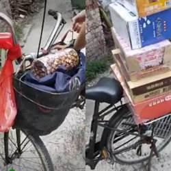 主人哪裡去?福興濱海草叢 遺棄腳踏車載6大箱飲料麻糬3天了