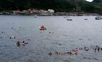 龍洞漁民抗議潛客影響航安 海巡現場戒護
