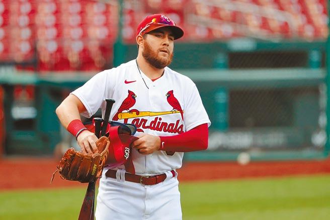 紅雀外野手狄恩是最新一波確診新冠病毒的大聯盟球員。 (美聯社資料照片)