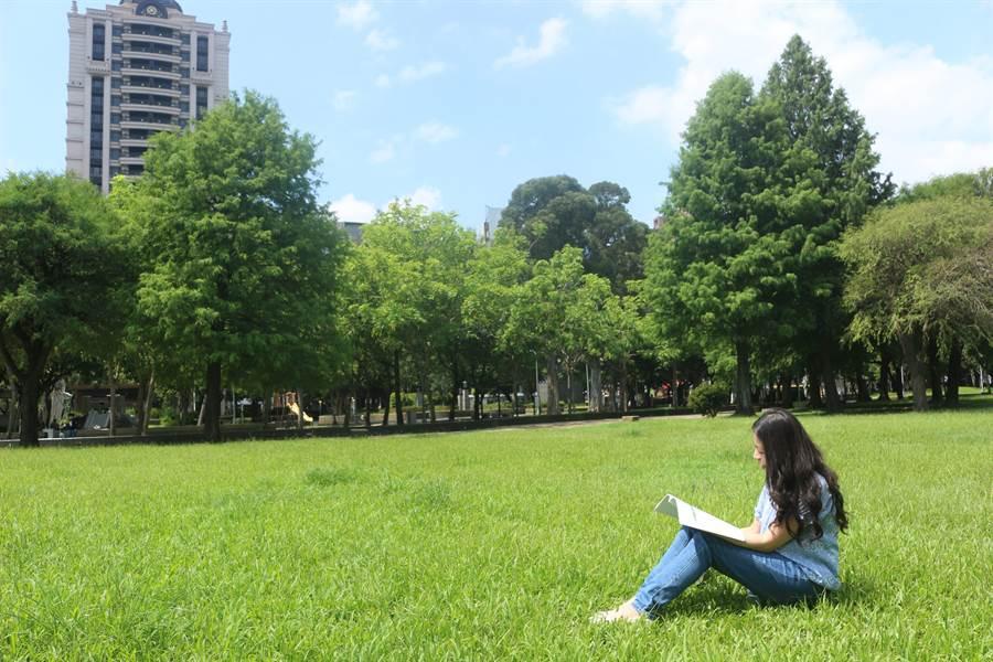 林森、康樂公園有大草坪、下凹式廣場等,適合親子玩樂休憩。(台北市工務局提供/賴彥竹新北傳真)
