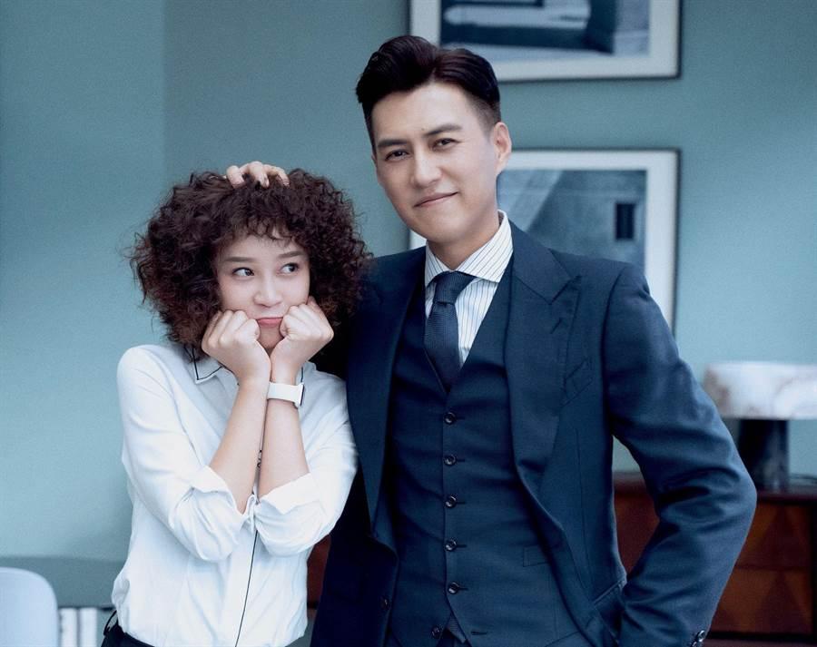 《精英律師》靳東、藍盈瑩。(中天娛樂台提供)