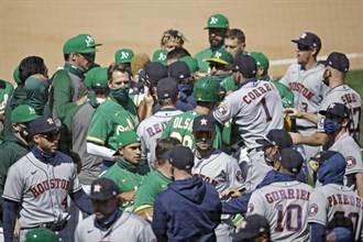 MLB》觸身球引爆太空人、運動家大亂鬥