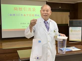 胸腔引流袋取代傳統胸瓶 輕巧、好照護縮短住院天數