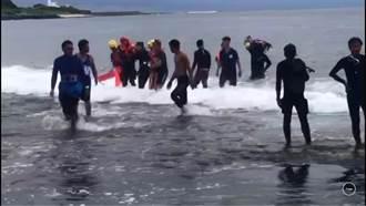 綠島3名潛水客遇颱風大浪游不回 警消神速救援