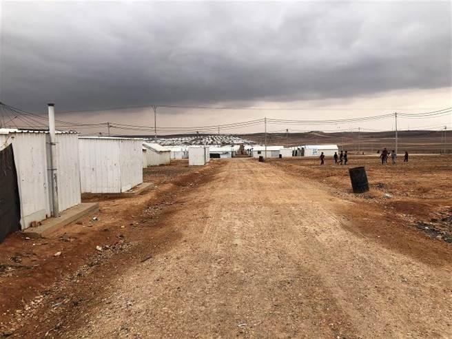 約旦的阿茲拉克難民營。約旦國內對難民的態度傾向包容與支持。(圖/方建翔攝)