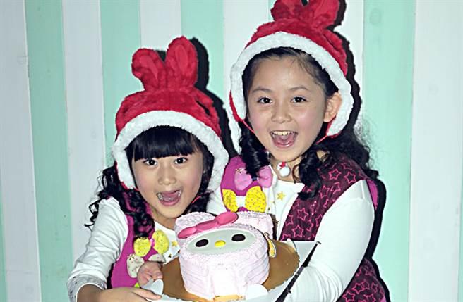 11年前出道的童星團體「大小姐」,由吳兆絃和愛子組成。(圖/本報系資料照)