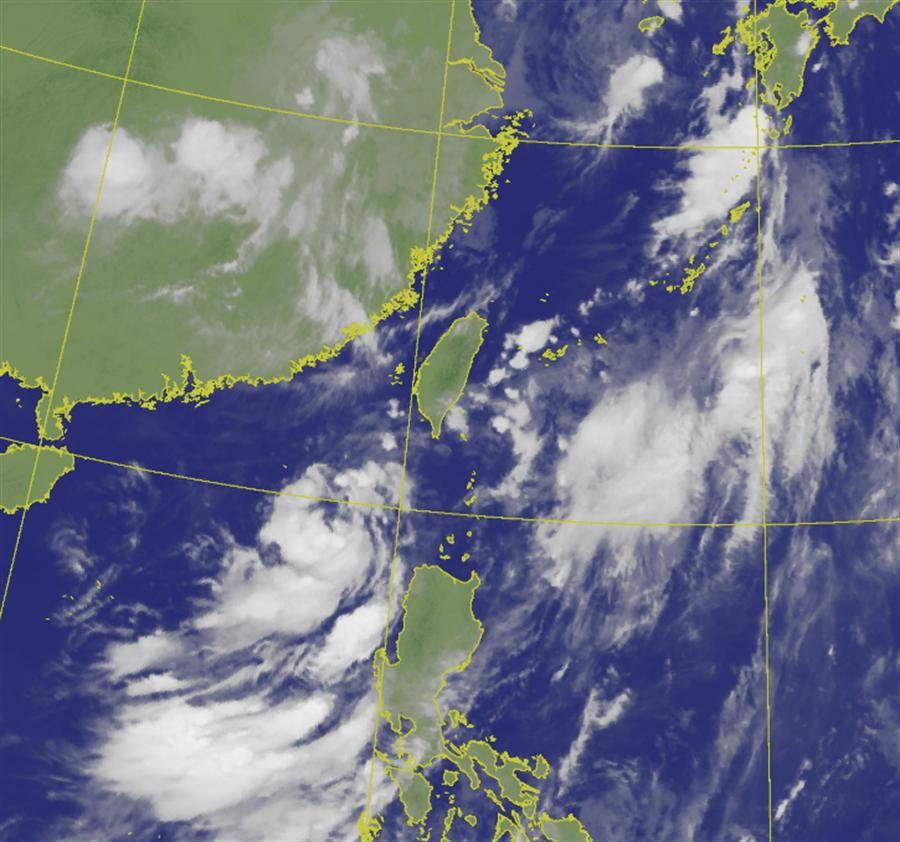 米克拉颱風模擬路徑出爐,不排除侵台。(中央氣象局提供)