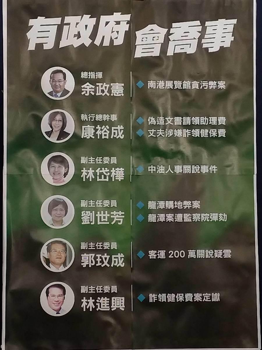國民黨指陳其邁競選團隊幹部多涉弊案。(黃福其攝)