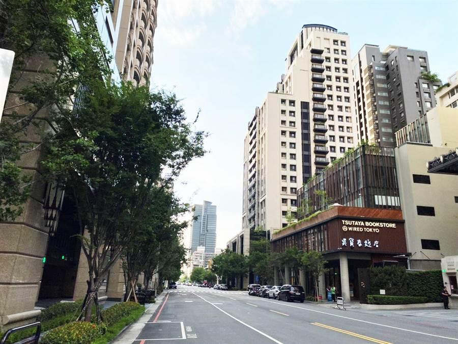 台中市七期市政北二路有「名人巷」之稱,帶動房價與名店進駐。(盧金足攝)
