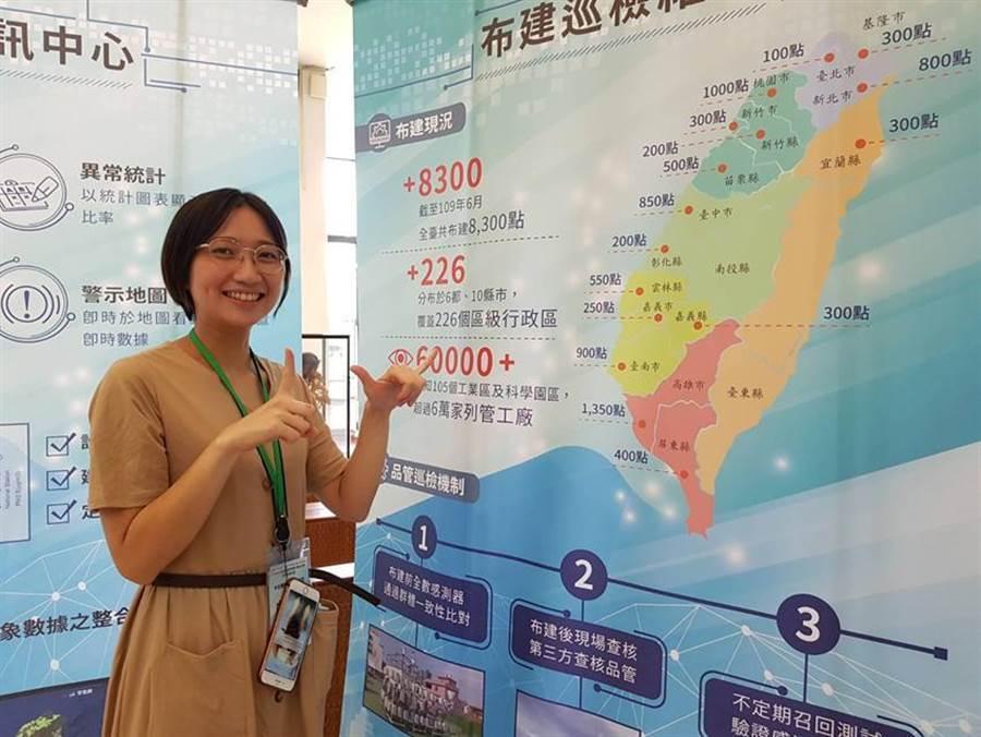 (工研院攜手中華電信等多家廠商,已在全台16個縣市,建置8,300點的空品感測器。圖/顏瑞田)