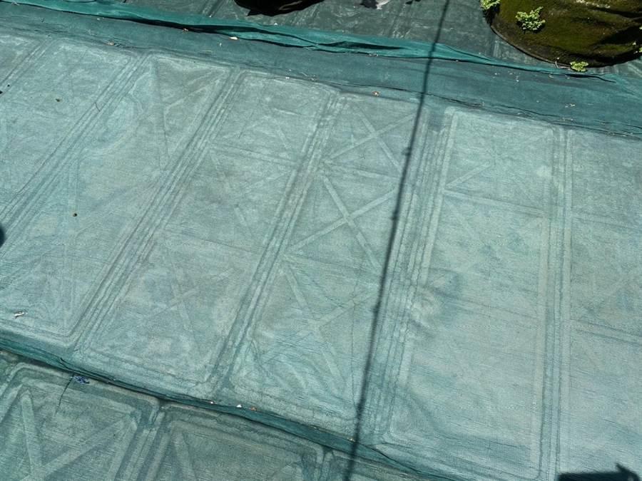 基隆市信義區仁壽里民在里內民宅屋頂打造「屋頂農園」,並在盆缽式農作物下鋪上保麗龍,達到綠美化及降溫作用。(基隆市環保局提供/張穎齊基隆傳真)