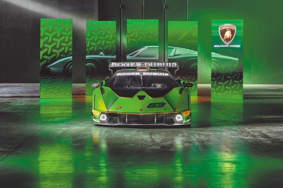 藍寶堅尼新款Essenza SCV12超級跑車,首度採用賽車專用的V12引擎。(Roger Dubuis提供)