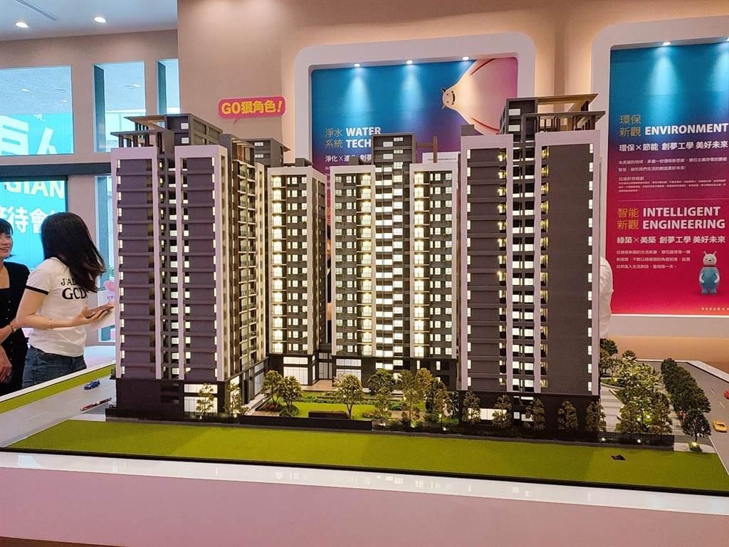 櫻花建設在北屯區推出新建案「櫻花巨人」/中時新聞網攝