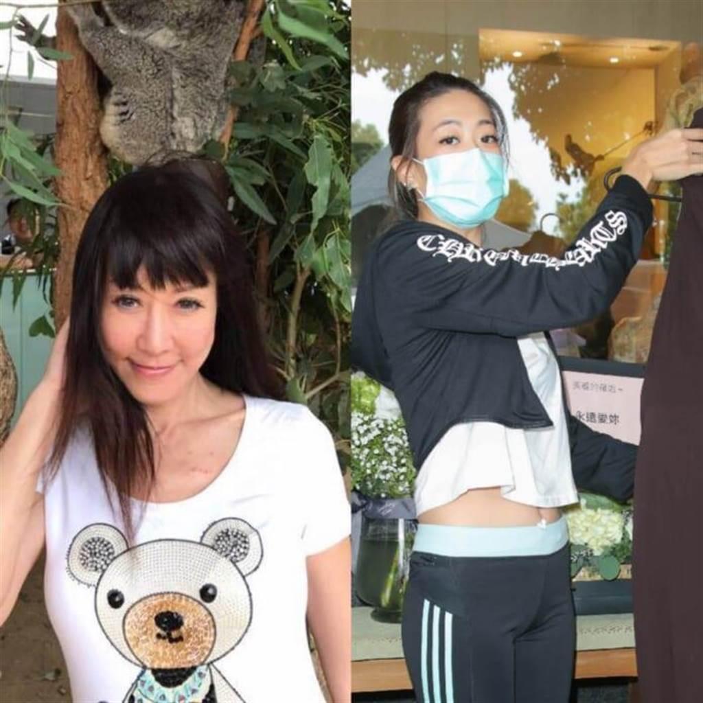 羅霈穎閨蜜帶來冥誕趴禮服。(摘自臉書/吳松翰攝)