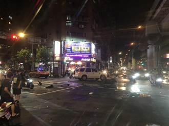 計程車違規左轉  無辜騎士閃避不及撞上多處挫傷