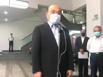 蘇貞昌企業參訪 讚台灣民主政府護主權