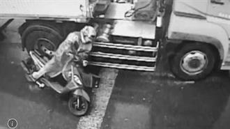 東港恐怖車禍 女騎士捲入曳引車底 當場肢體分離慘死