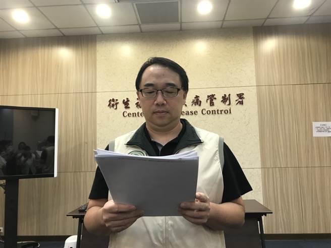 疾管署疫情中心副主任郭宏偉。(鄭郁蓁攝)