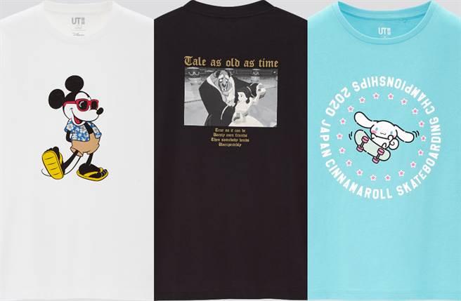 UNIQLO「童年偶像系UT」迪士尼公主、三麗鷗、米奇米妮、DC英雄必收藏(圖/品牌提供)