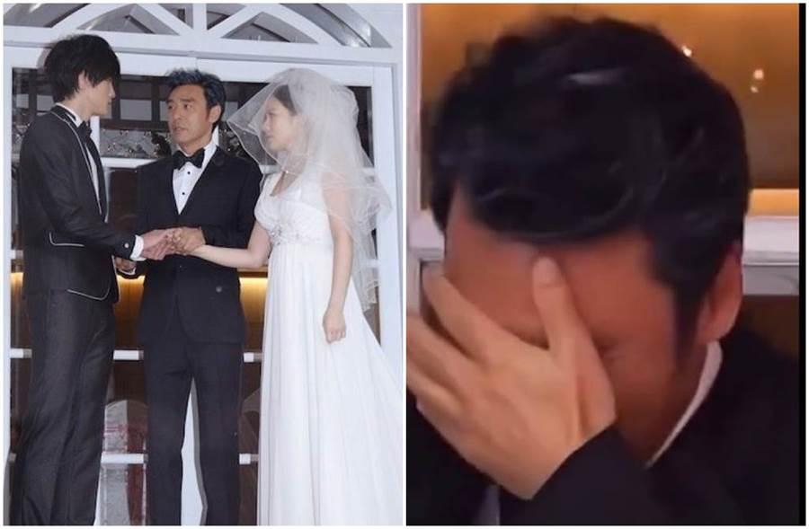 鍾鎮濤傳出女兒婚禮淚崩掩,但其實只是MV片段。(圖/東網)