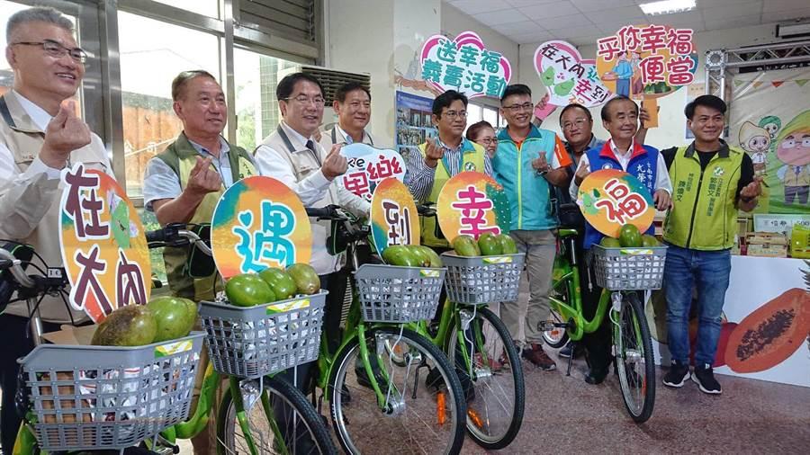 大內酪梨節8月16日登場,推出騎腳踏車採果活動。(台南市農業局提供/劉秀芬台南傳真)