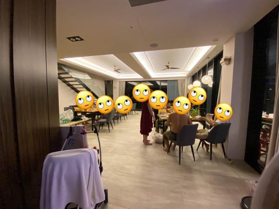 網友表示,抵達後才發現要跟老闆夫妻同住,一舉一動更是都被監視器拍著 (圖/爆怨公社)