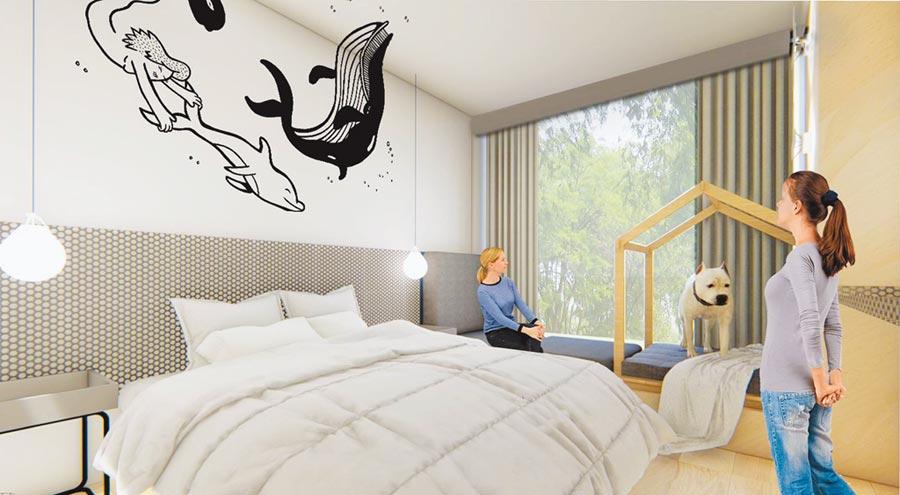 搶攻銀髮、養生巿場,台開攜手法國宜必思(ibis)、丹麥BIG,在花蓮推出全台首座享樂主義的養生行旅。(台開提供)