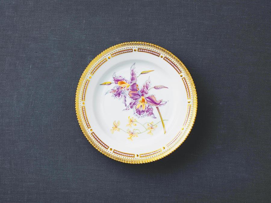 齒舌蘭被譽為最美麗的蘭花,因花朵絢爛贏得喜愛,7萬2000元。(皇家哥本哈根提供)