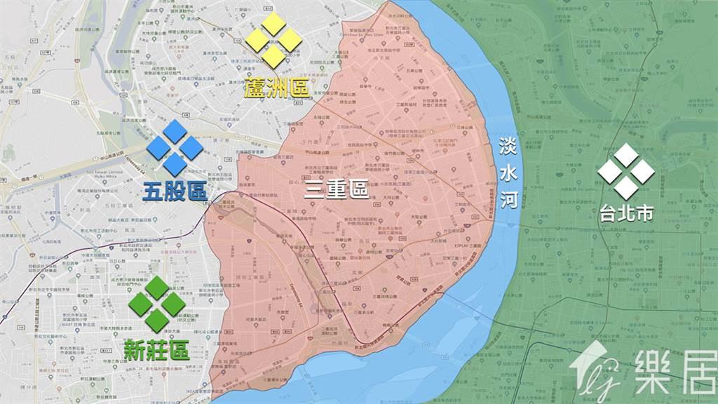 三重區地理位置
