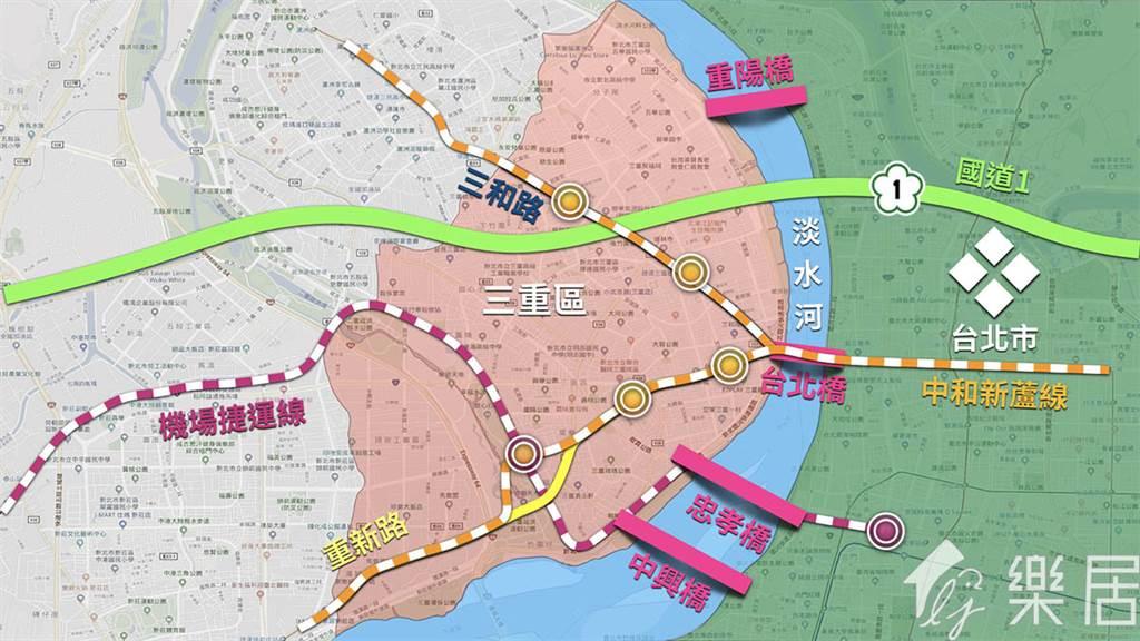 三重區交通動線