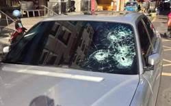鹿港違規停車佔車被砸車 擋風玻璃敲破5個透明窟窿