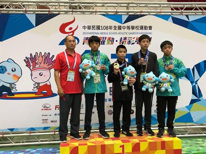嘉縣5名學生獲選「亞州U15角力錦標賽代表隊」及「2020年世界中學生運動會」角力代表隊選手。(嘉義縣政府提供/呂妍庭嘉義傳真)
