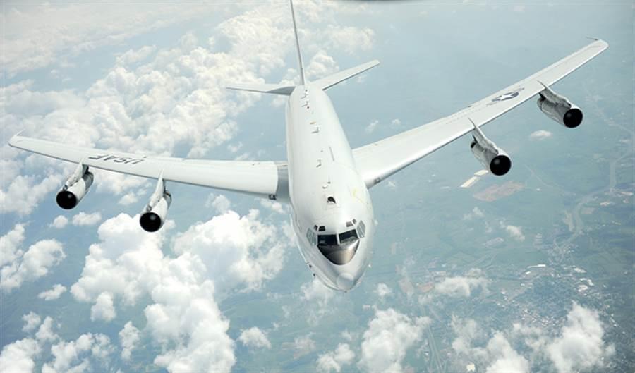 美國空軍E-8C「聯合星」(Joint Stars)指揮偵察機的資料照。(美國空軍)