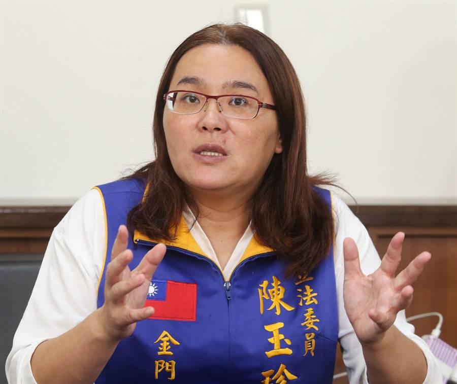 國民黨立委陳玉珍,近來不斷替陸生、陸配及其子女發聲,並爭取返台。(王英豪攝)