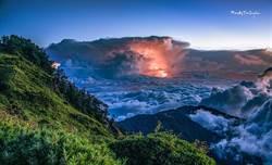 超美雷擊照!中台灣暴雨 高空畫面令人震撼