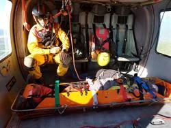 男子登山滑落邊坡百公尺 救難人員耗時3日安全救援