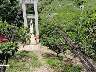 和平南湖溪二號橋纜索斷裂  建設局克服困難完成搶修